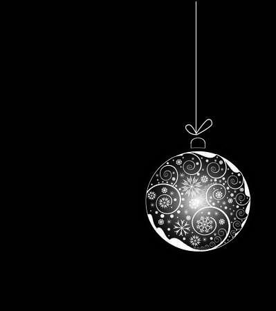 brillant Boule de No�l avec les �l�ments floraux  Illustration