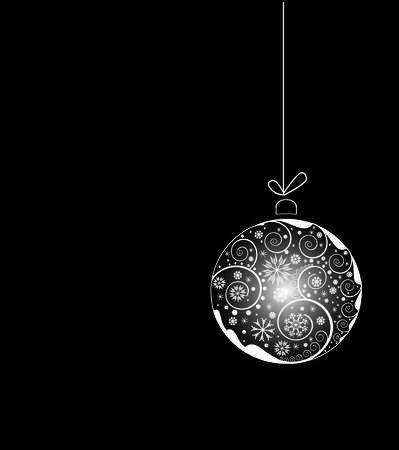 shiny  Christmas ball with floral elements