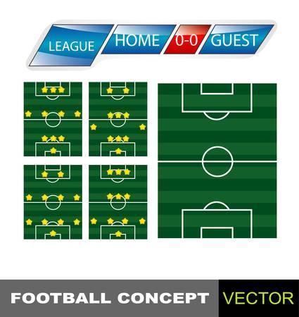 football statistics elements Vector