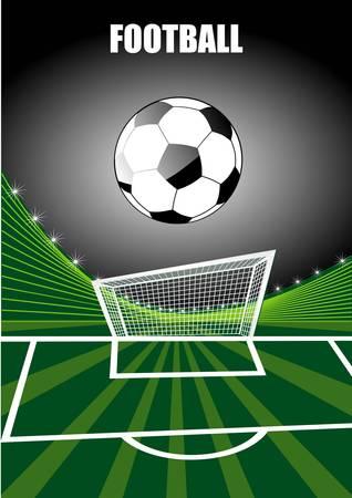 fond de football Illustration