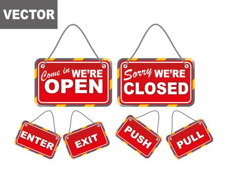 informative: Store signs collection Illustration