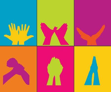 left hand: hands Illustration