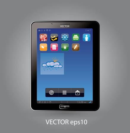 Touchscreen tablet - smartphone