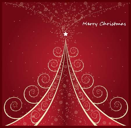 beautifully: Christmas tree  Illustration