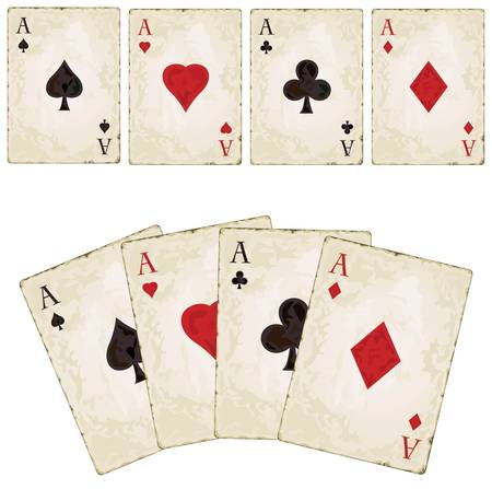 as de picas: Palas Vintage - Vintage palas de p�quer - poker Vectores