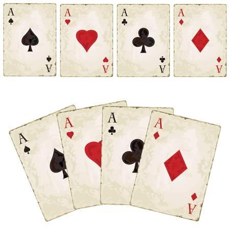 Vintage spades - poker Vintage spades - poker  Stock Vector - 12497918
