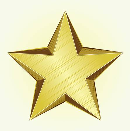 Golden Star Stock Vector - 12497917