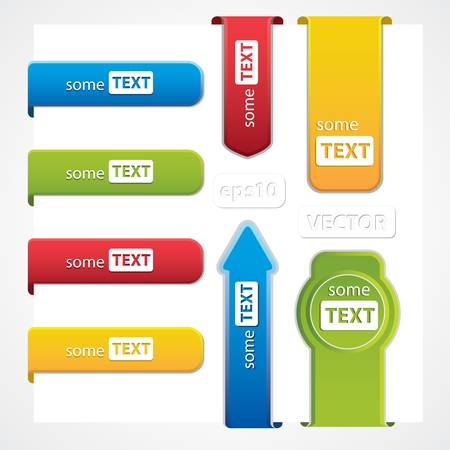 Set of paper tags Stock Vector - 12770867