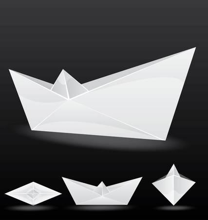 VECTOR origami paper boat Stock Vector - 12770873