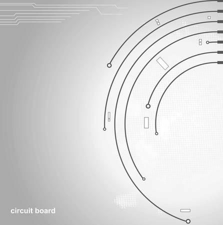 circuito de fondo de la Junta Ilustración de vector