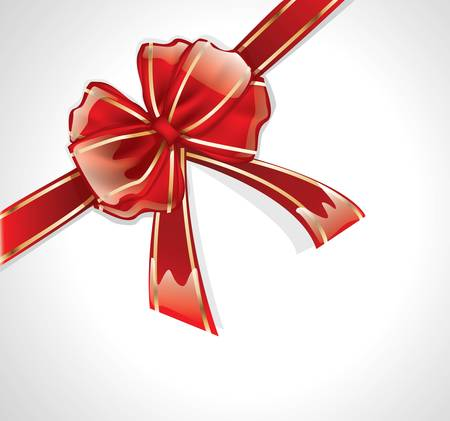 bestowal: Glossy red bow with ribbons Illustration