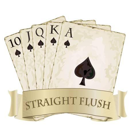 에이스: 로얄 플러시 카드 놀이 로얄 플러시 카드 놀이 일러스트