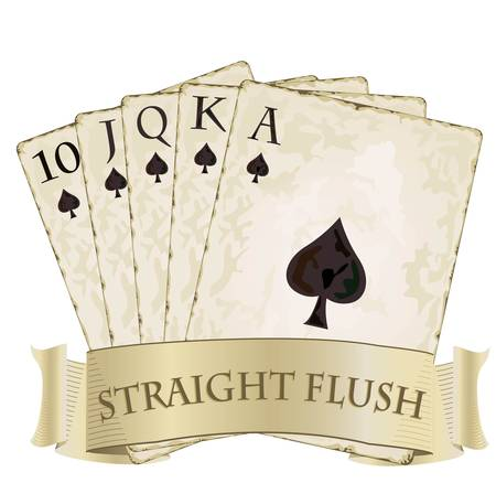 royal flush playing cards 	royal flush playing cards Imagens - 13037722