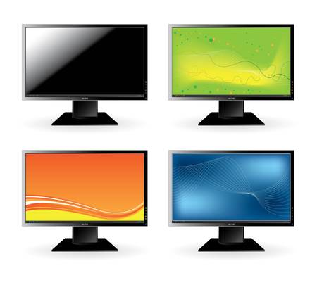 liquid crystal: Monitor icons