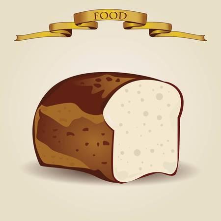 Vintage bread illustration - vector