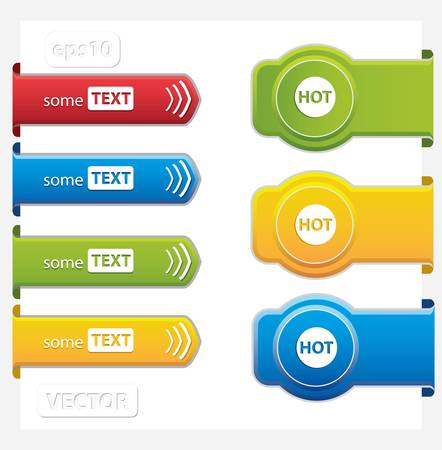 Set of paper tags Stock Vector - 13245054