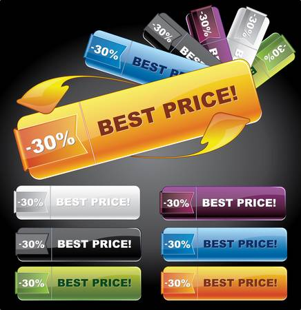 Web buttons - prices tags