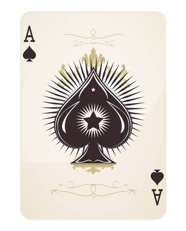 ace of clubs: Spade Ace  Illustration