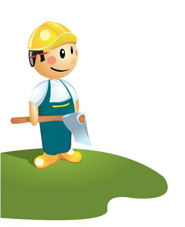 Axeman - cartoon illustration  Vector