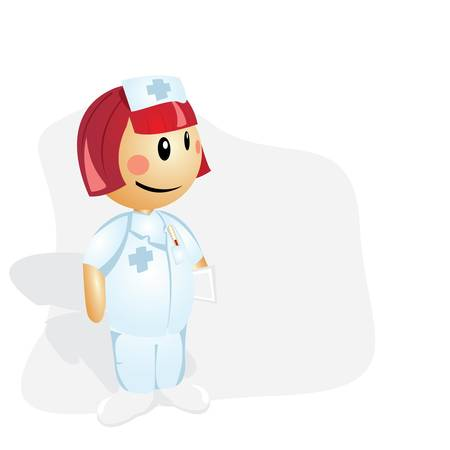 Nurse- cartoon illustration Stock Vector - 13429211