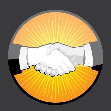 coincidir: Apretón de manos Vectores