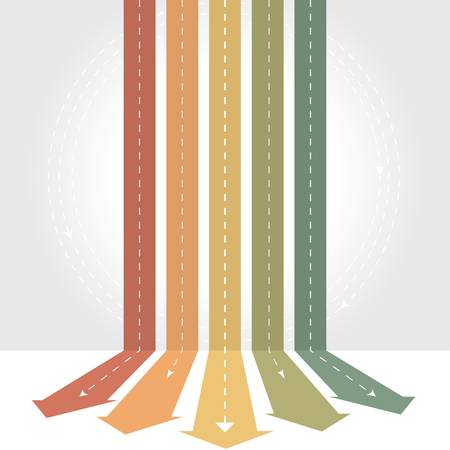 move forward: Vintage arrows - Infographic background  Illustration