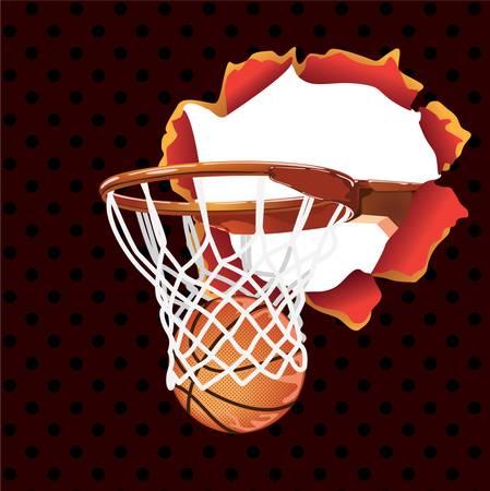 basket-ball affiche-banni�re Illustration