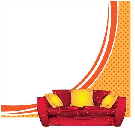 Sofa vector background Stock Vector - 13606652