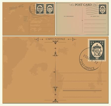 sello postal: Vintage tarjetas postales