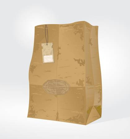 Vintage paper bag Stock Vector - 13913700