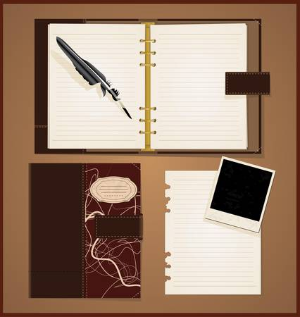 old diary: Vintage book