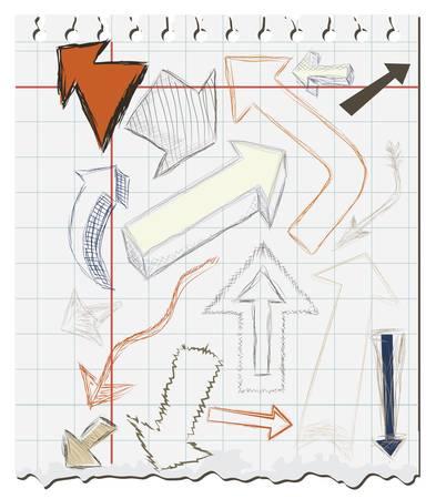 Arrow Doodles Stock Vector - 14254415