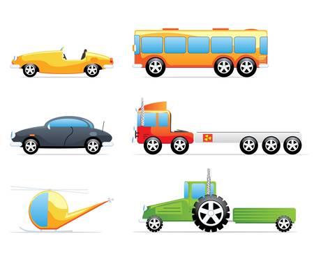 buss: Cute transportation icons