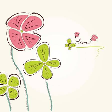 Background with a flowers Vector