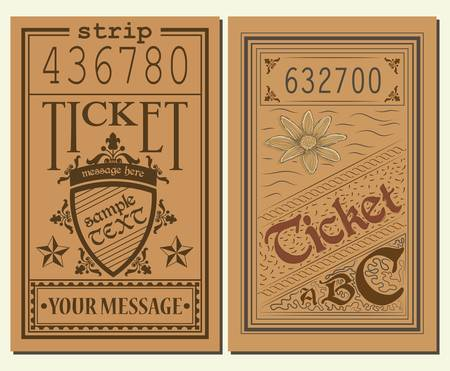 admission: Vintage Tickets Illustration
