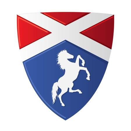 Emblem with horse, with a place for Your text Ilustração