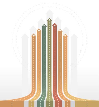 Flèches de cru - fond Infographie