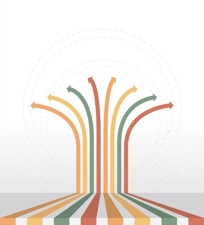 Vintage arrows - Infographic background Ilustração
