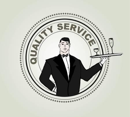 �tiquette vecteur de restaurants � service
