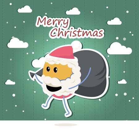 Funny Santa Claus vector image Ilustração