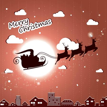 Santa Claus driving in a sledge  Stock Vector - 16587190