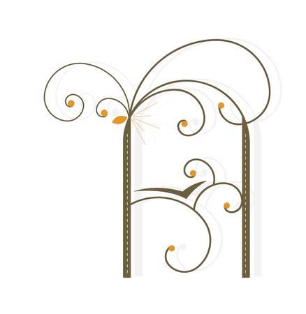 Capital letter A - Decorative letter shape
