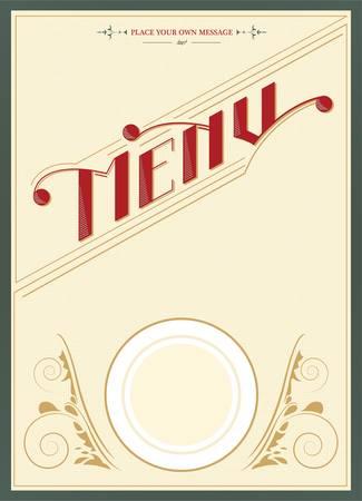 Restaurant menu design - vector Vector