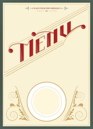 Restaurant menu design - vector