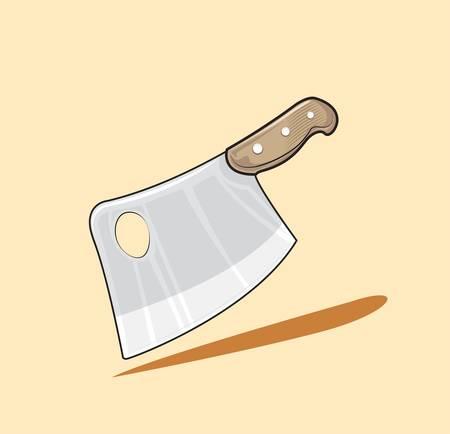 metal knife: meat cleaver