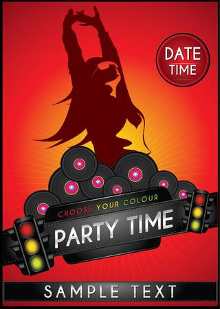 Template flyer for party