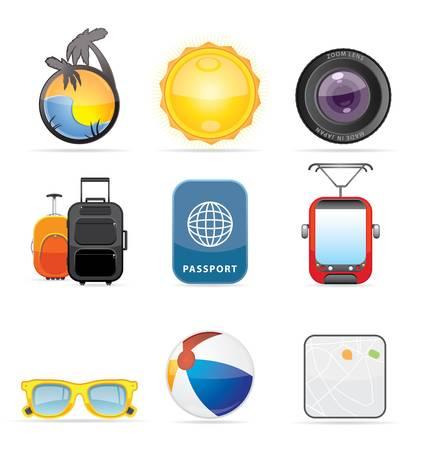 Travel Icon Set  Illustration