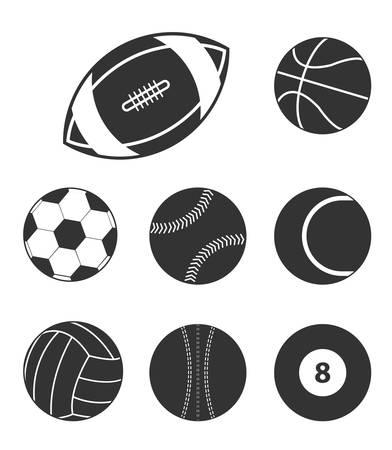 Sports balls icons icons Ilustração