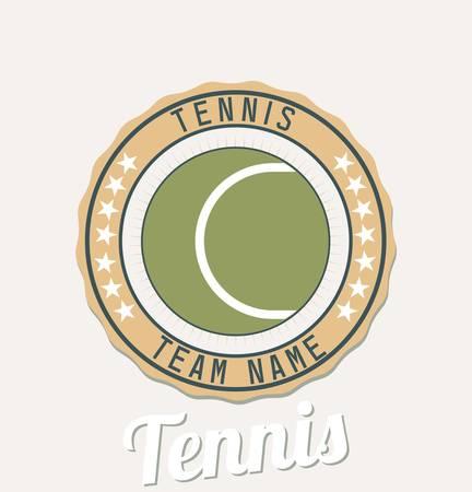 Tennis club emblem