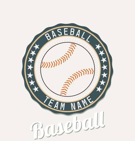 Baseball club emblem Ilustração